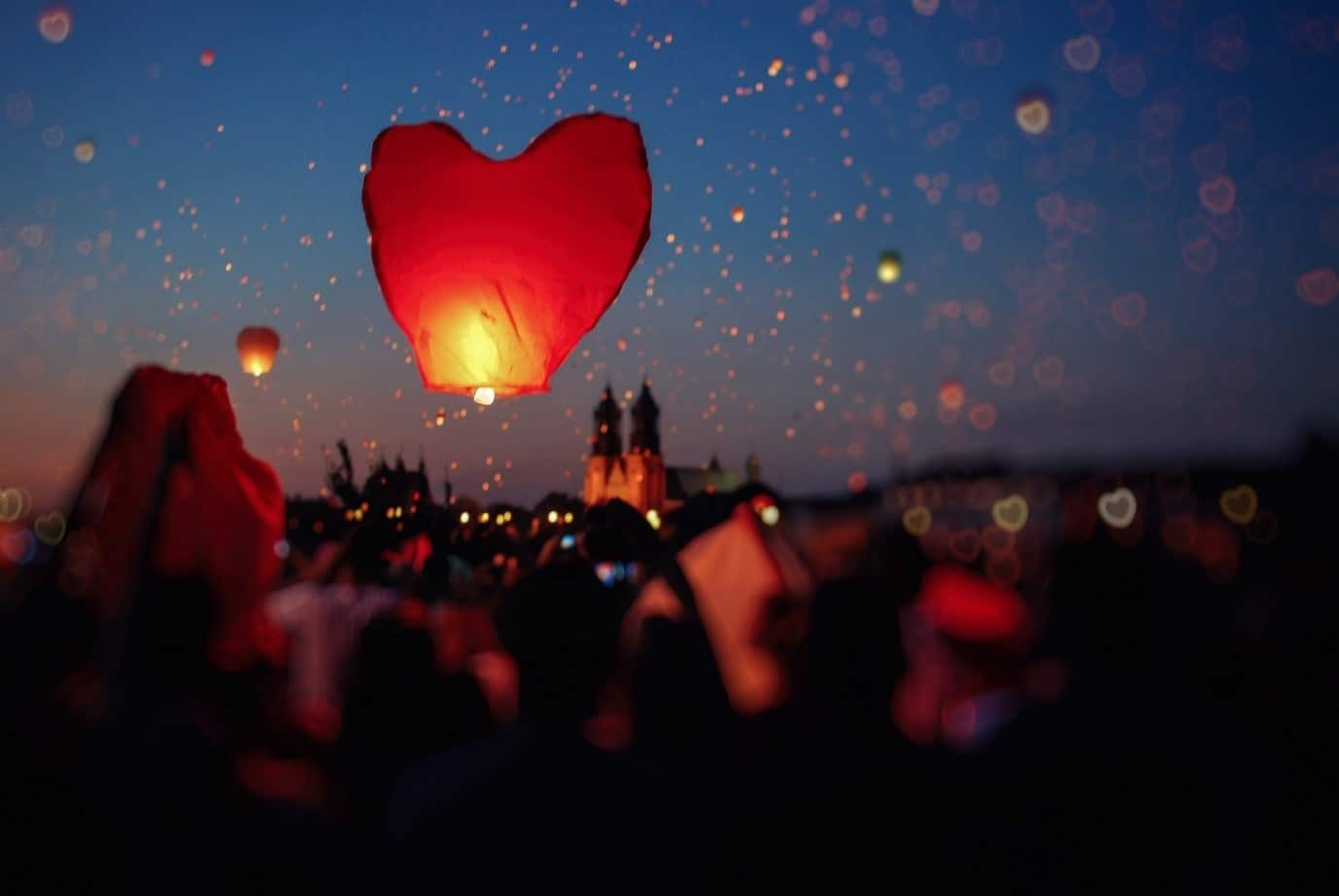 Heart Balloons at Festival - Valentines