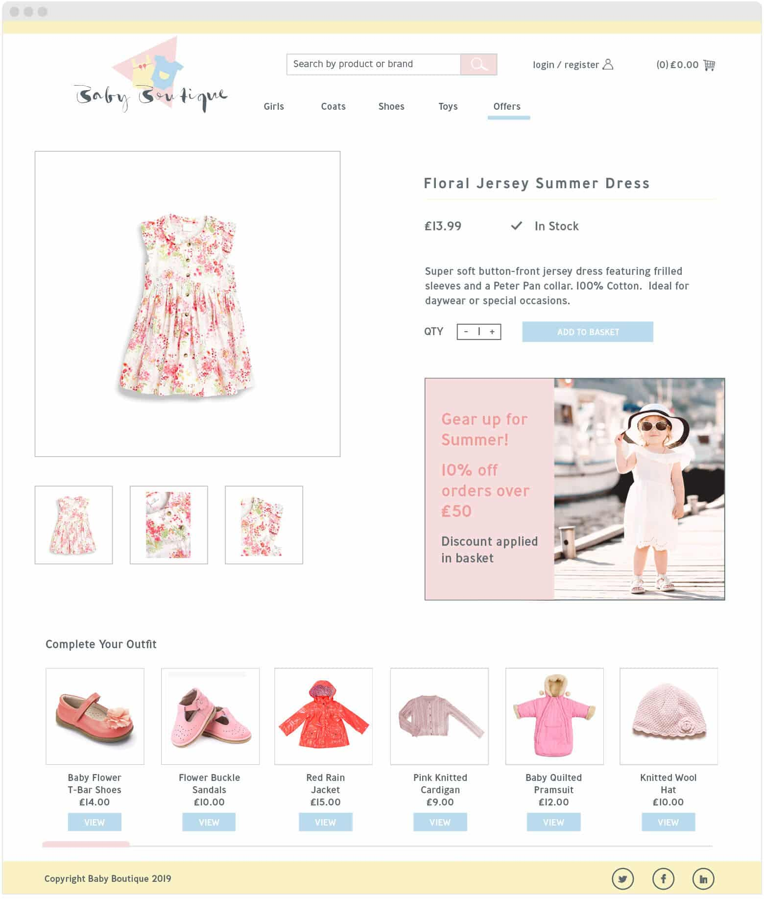 Baby Boutique Cross Sell After