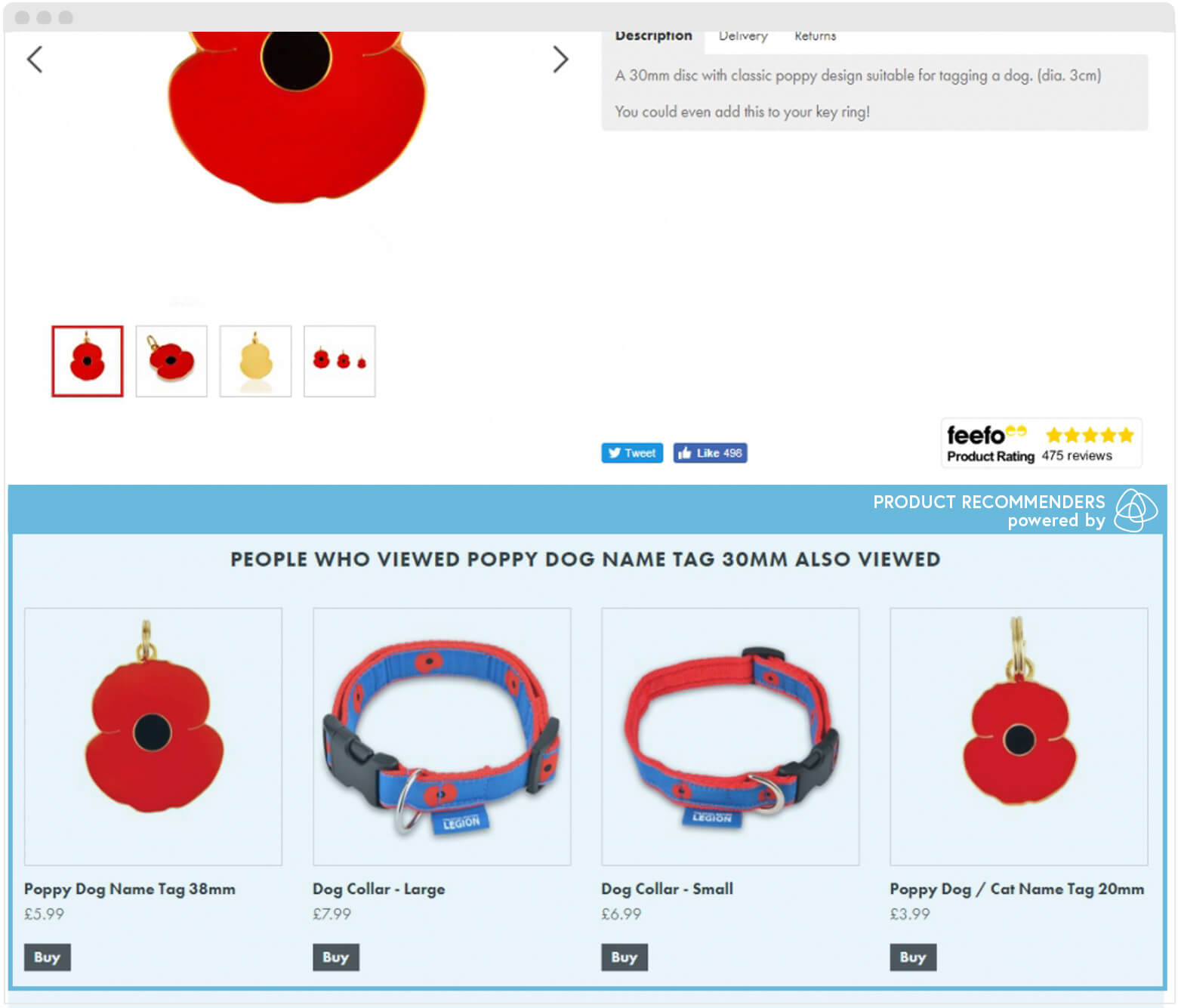 Poppy Shop Product Recommenders