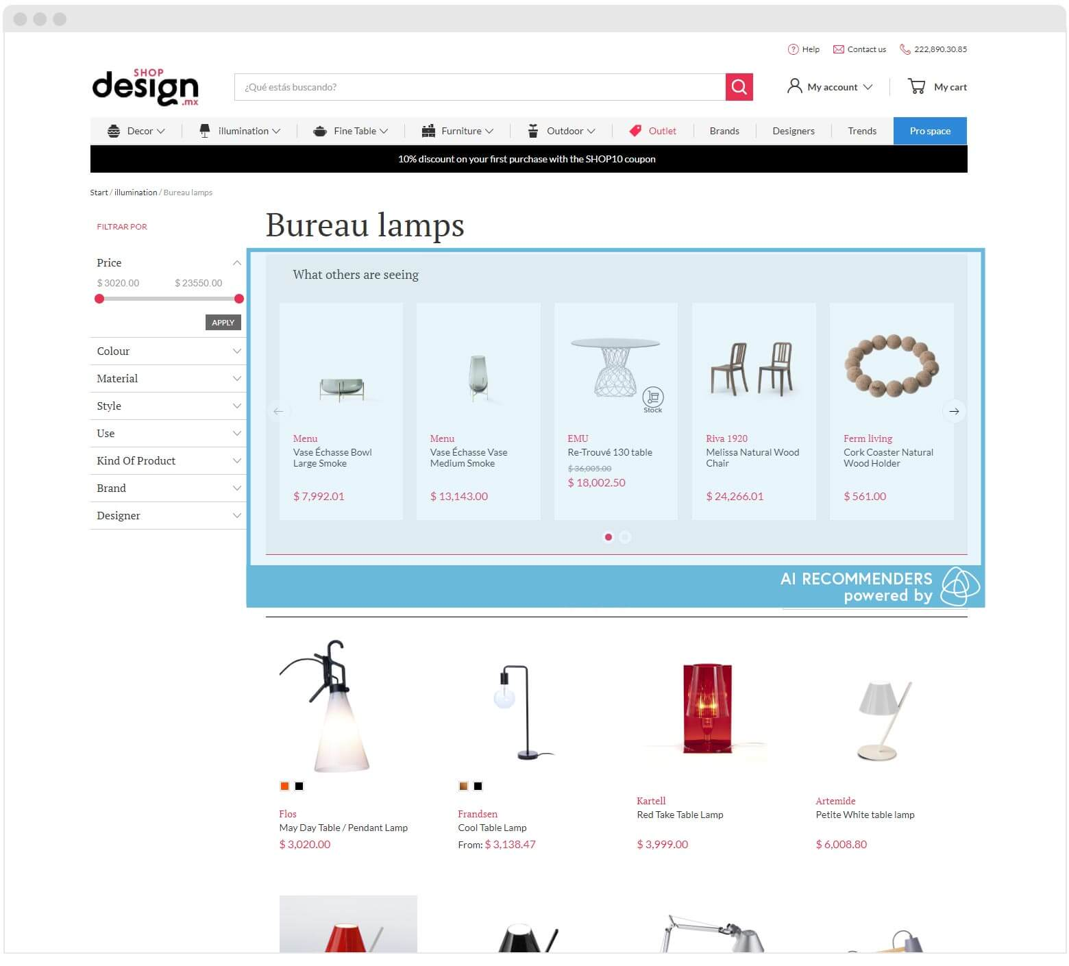 Shopdesign Personalisation in Search