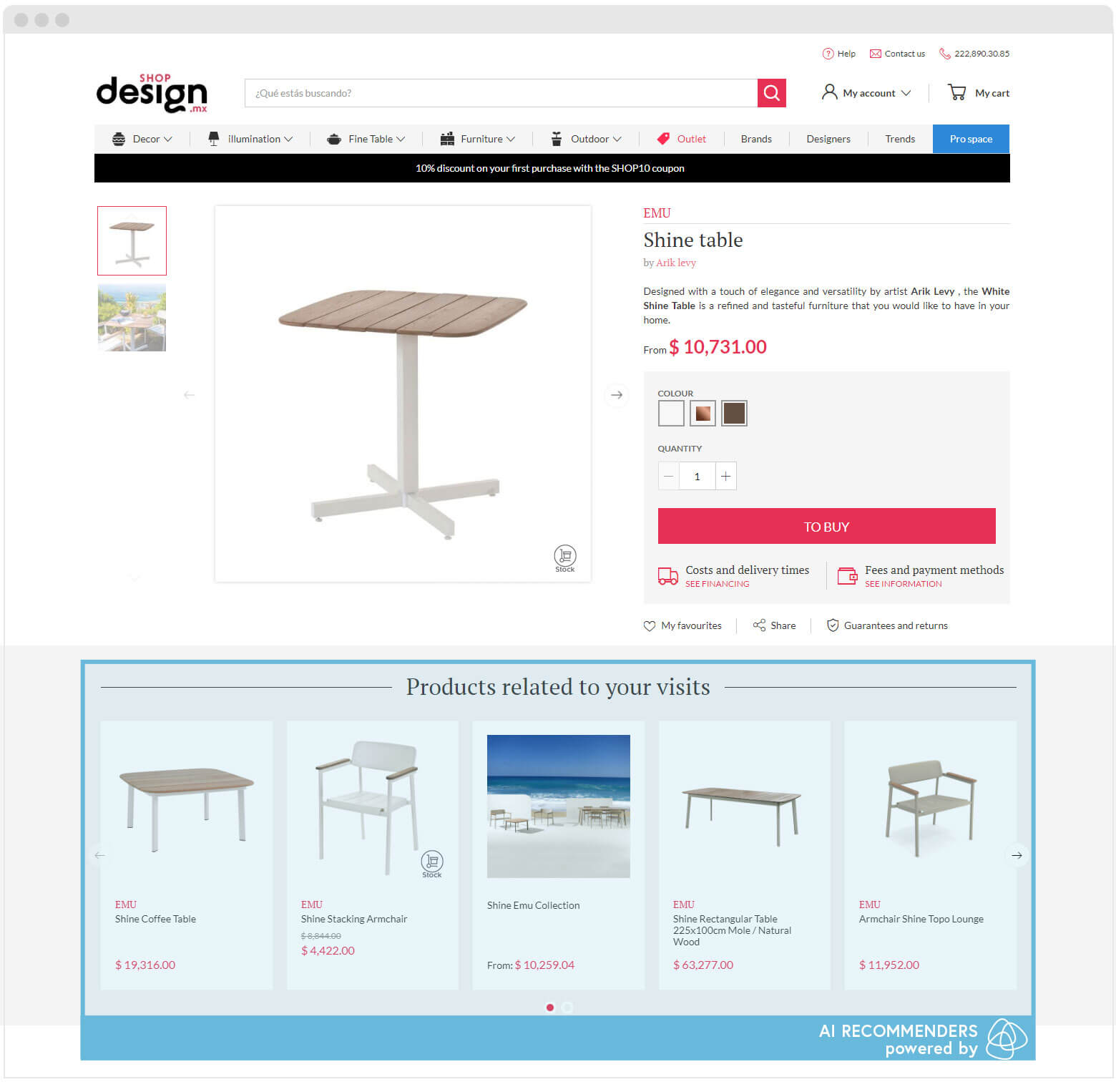 Shopdesign Product Page Recommenders