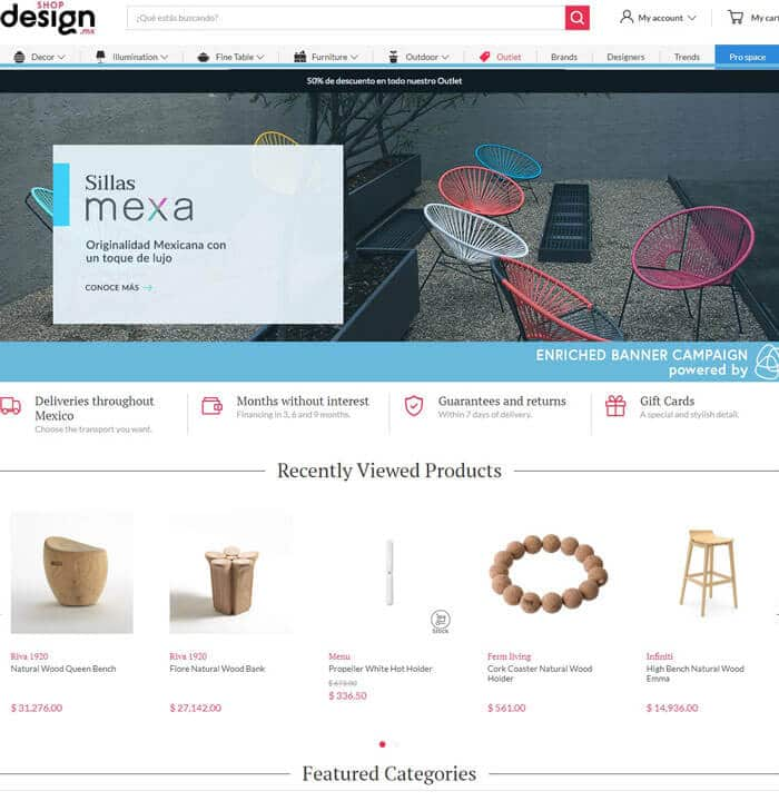 Shopdesign homepage