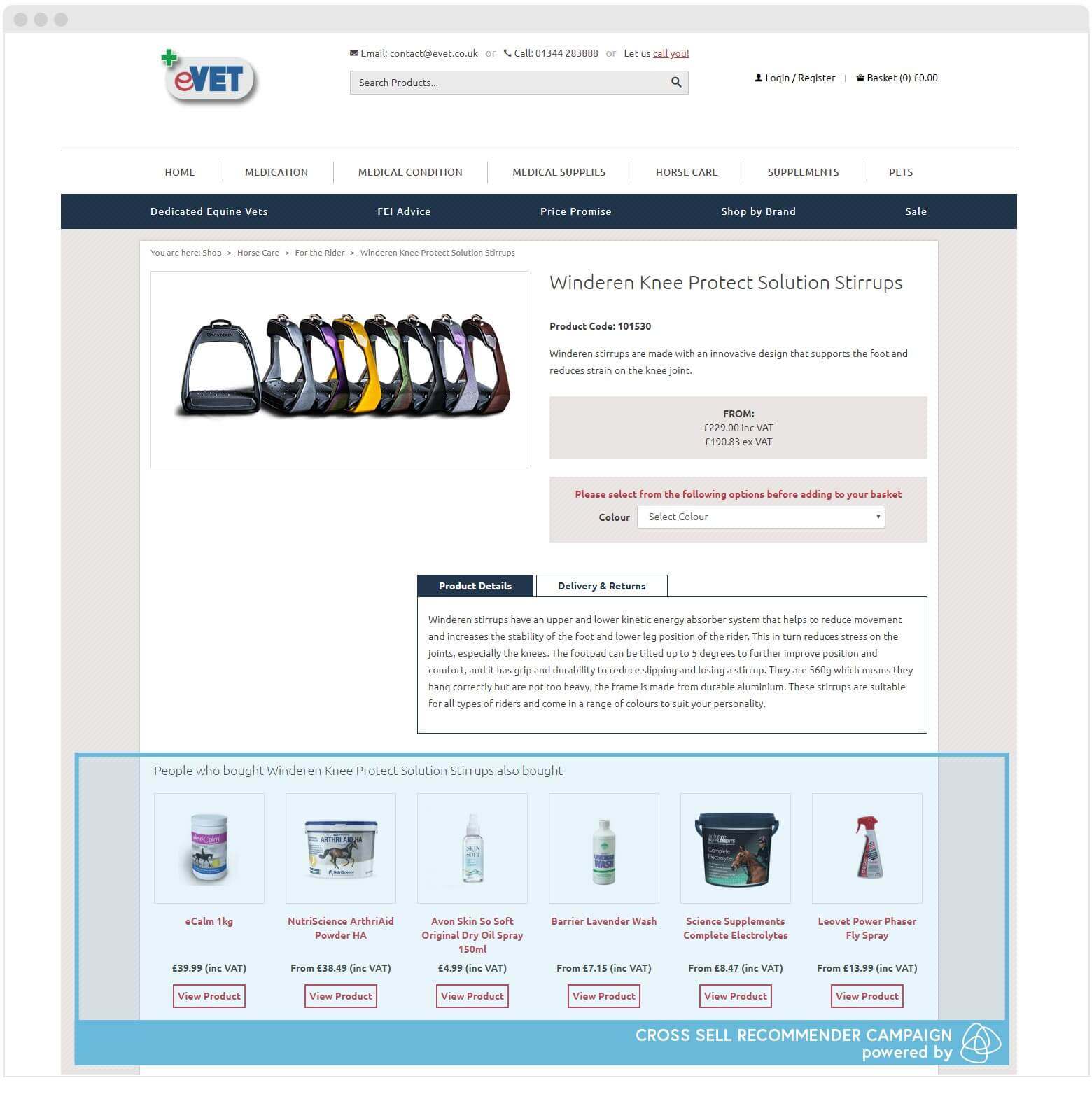 eVet Product Page Recommenders