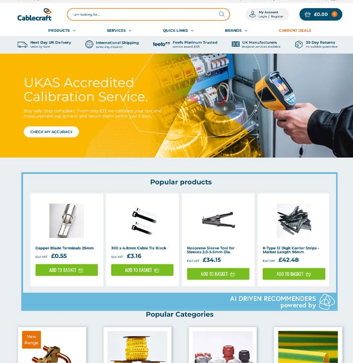 Cablecraft Homepage