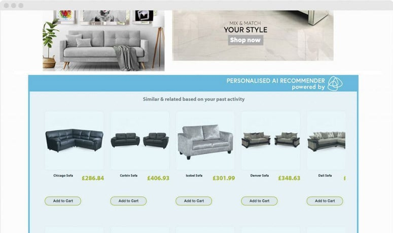 Personalised product recommenders